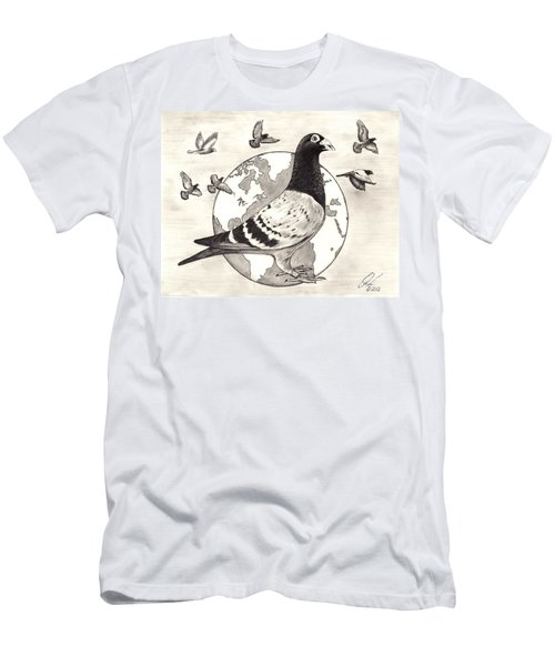 Pigeon Race Men's T-Shirt (Athletic Fit)