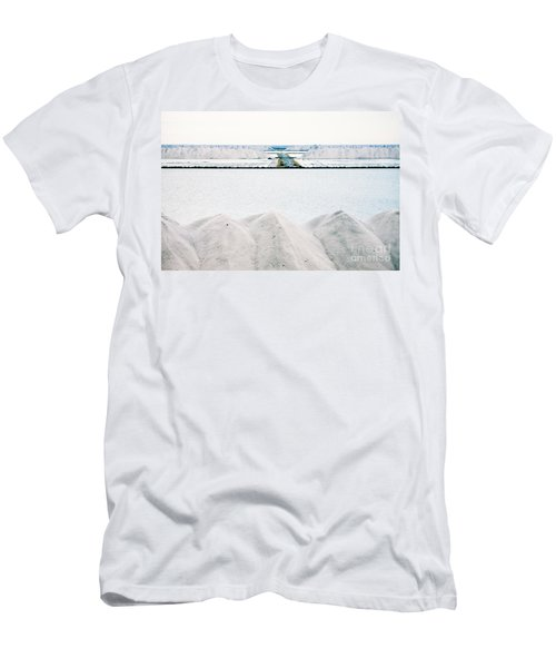 Piles Of Crystallised Salt At A Saline Refinery Men's T-Shirt (Athletic Fit)