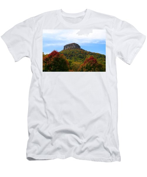 Pilot Mountain From 52 Men's T-Shirt (Athletic Fit)
