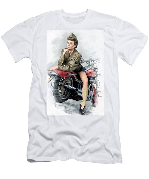 Pin-up Biker  Men's T-Shirt (Athletic Fit)