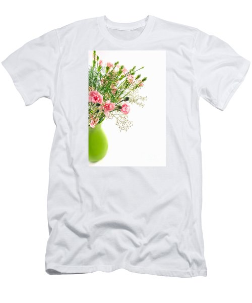 Pink Carnation Flowers Men's T-Shirt (Athletic Fit)
