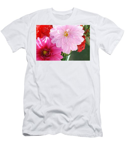 Pink Dahlias In The Morning Men's T-Shirt (Athletic Fit)