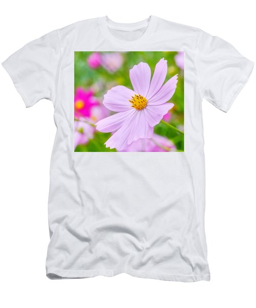 Pink Flower  Men's T-Shirt (Athletic Fit)