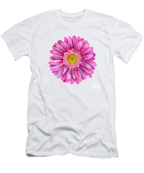 Pink Gerbera Daisy Men's T-Shirt (Athletic Fit)