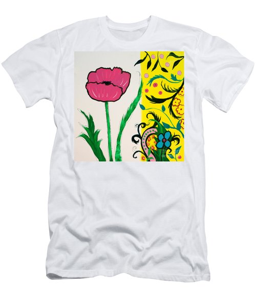 Pink Poppy And Designs Men's T-Shirt (Athletic Fit)