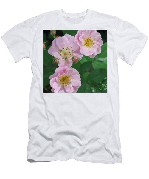 Pink Roses Men's T-Shirt (Athletic Fit)