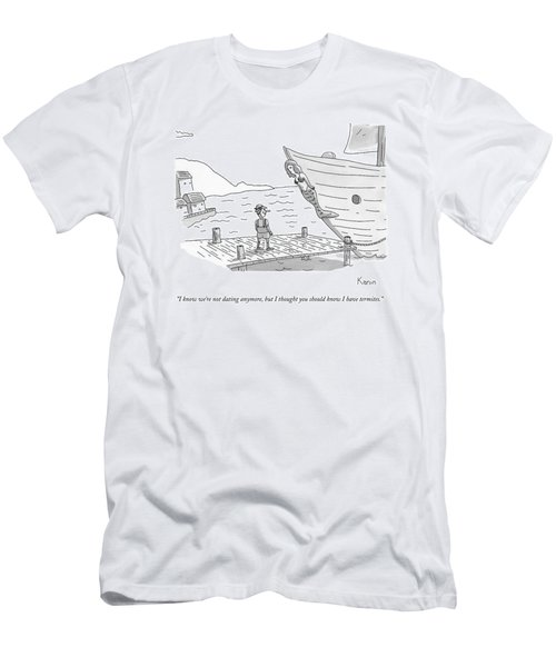 Pinocchio Addresses The Wooden Mermaid Men's T-Shirt (Athletic Fit)