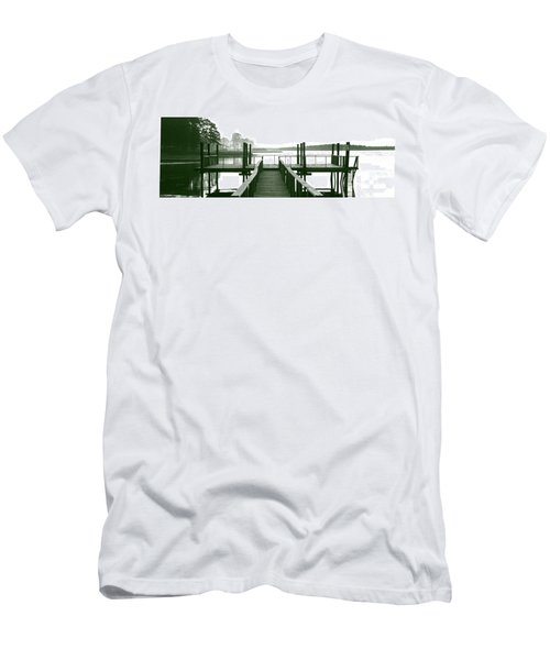 Pirate's Cove Pier In Monochrome Men's T-Shirt (Athletic Fit)