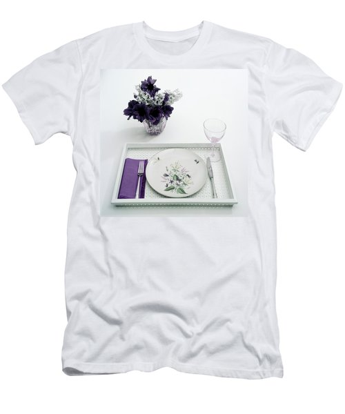 Place Setting With With Flowers Men's T-Shirt (Athletic Fit)