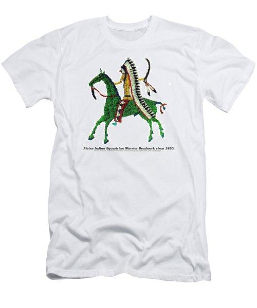 Plains Indians Equestrian Warrior Circa 1850 Men's T-Shirt (Slim Fit) by Peter Gumaer Ogden