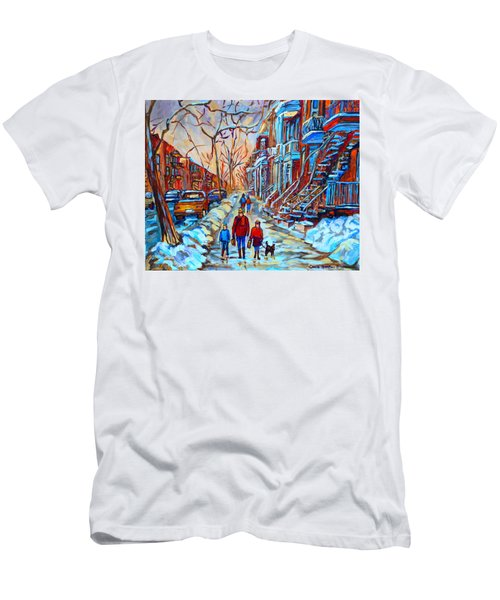 Plateau Montreal Street Scene Men's T-Shirt (Athletic Fit)