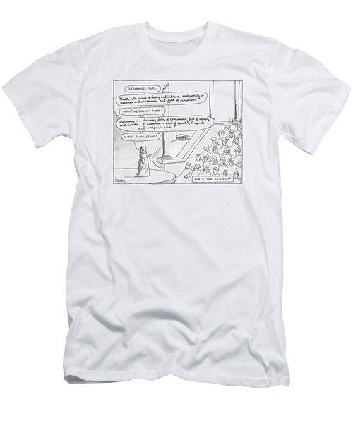 Plato The Standup Men's T-Shirt (Athletic Fit)