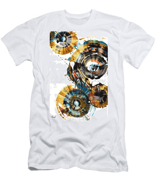 Men's T-Shirt (Slim Fit) featuring the painting Playing In The Wind 1000.042312 by Kris Haas