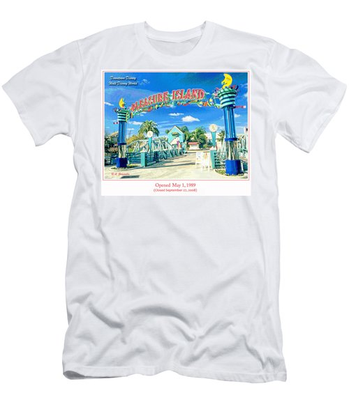Pleasure Island Sign And Walkway Downtown Disney Men's T-Shirt (Athletic Fit)
