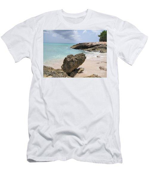 Plum Bay - St. Martin Men's T-Shirt (Athletic Fit)