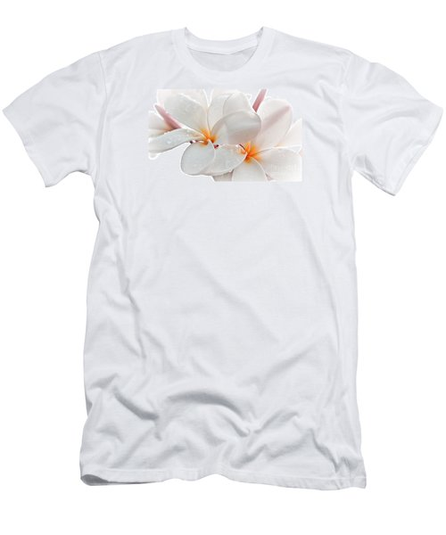 Men's T-Shirt (Slim Fit) featuring the photograph Plumeria by Roselynne Broussard