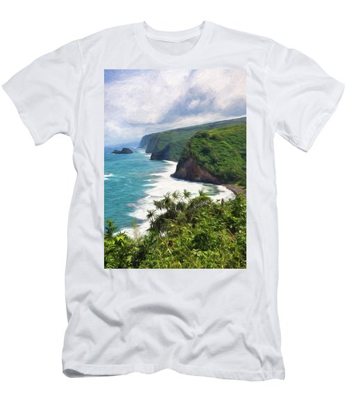 Pololu Valley Beach Men's T-Shirt (Athletic Fit)