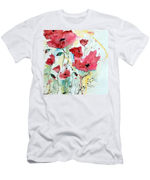 Poppies 05 Men's T-Shirt (Athletic Fit)
