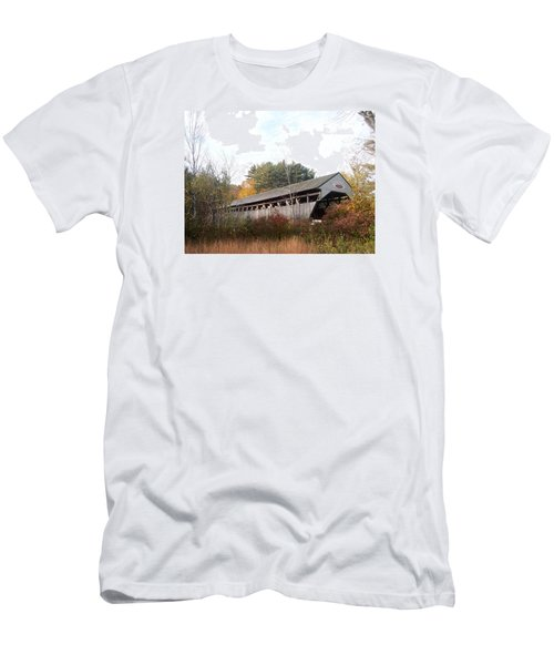Porter Covered Bridge Men's T-Shirt (Slim Fit) by Catherine Gagne