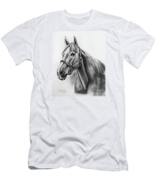 Portrait Of A Horse Men's T-Shirt (Slim Fit) by Lena Auxier