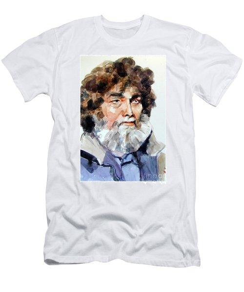 Watercolor Portrait Of A Sailor Men's T-Shirt (Athletic Fit)