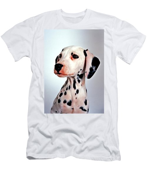 Men's T-Shirt (Slim Fit) featuring the painting Portrait Of Dalmatian Dog by Lanjee Chee