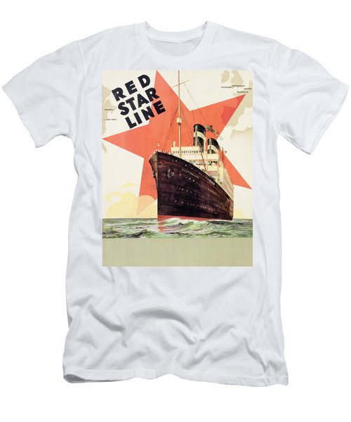 Poster Advertising The Red Star Line Men's T-Shirt (Athletic Fit)