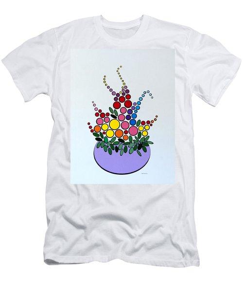 Potted Blooms - Lavendar Men's T-Shirt (Athletic Fit)
