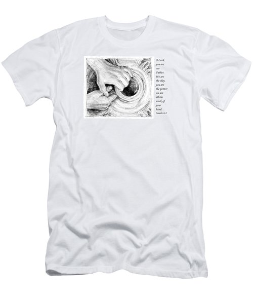 Men's T-Shirt (Slim Fit) featuring the drawing Potter And Clay by Janet King