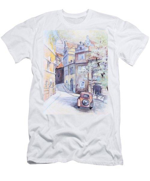 Prague Golden Well Lane Men's T-Shirt (Athletic Fit)