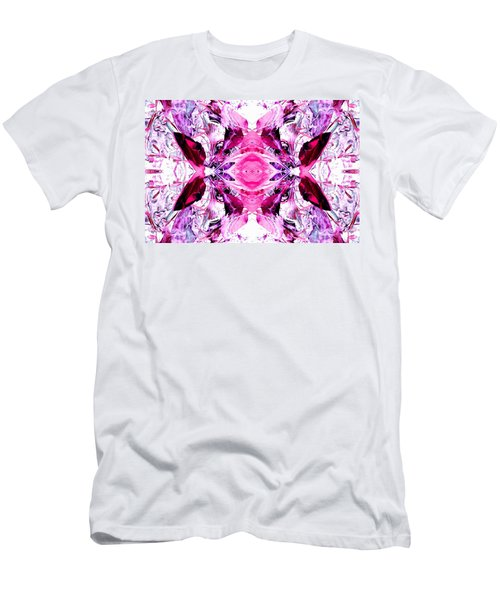 Pretty Pink Weeds Abstract  3 Men's T-Shirt (Athletic Fit)