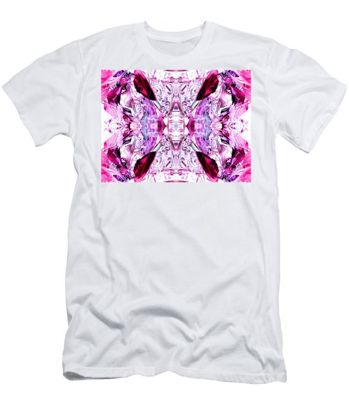 Pretty Pink Weeds Abstract  4 Men's T-Shirt (Athletic Fit)