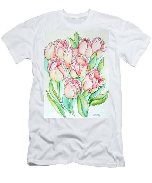 Pretty Tulips Men's T-Shirt (Athletic Fit)