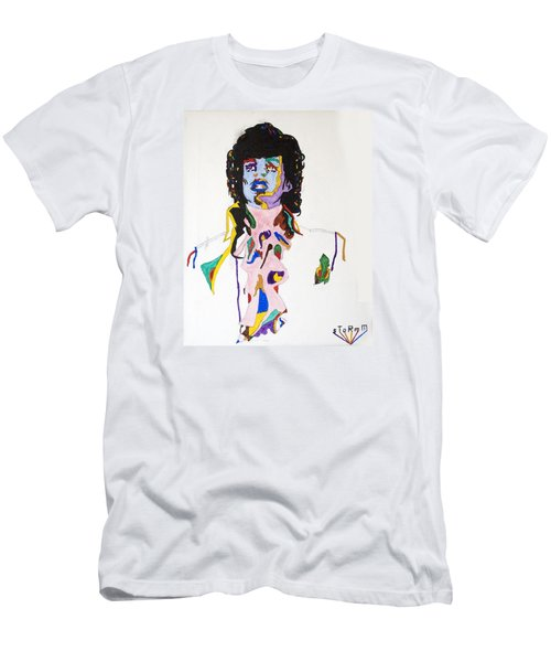 Men's T-Shirt (Slim Fit) featuring the painting Prince Purple Reign by Stormm Bradshaw