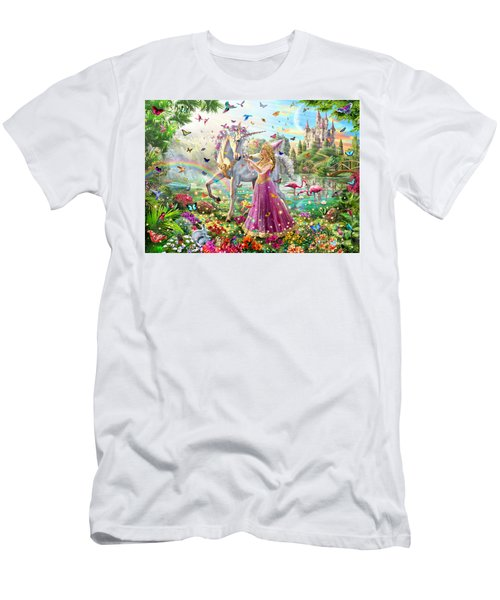 Princess And The Unicorn Men's T-Shirt (Athletic Fit)
