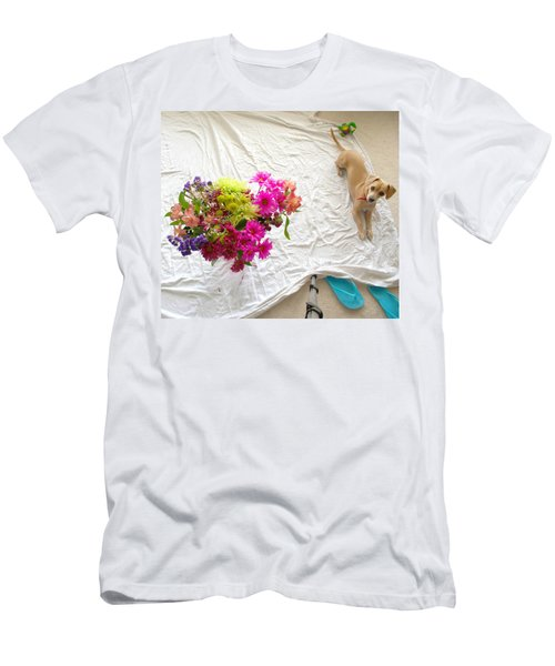 Men's T-Shirt (Slim Fit) featuring the photograph Princess On Assignment by Angela J Wright