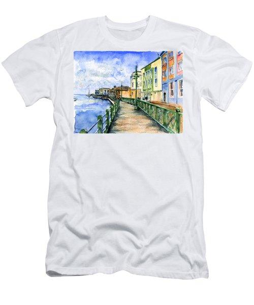 Promenade In Barbados Men's T-Shirt (Slim Fit)