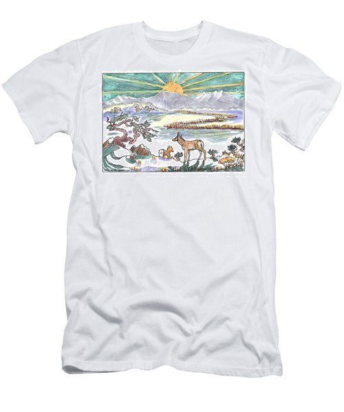 Pronghorn Winter Sunrise Men's T-Shirt (Athletic Fit)