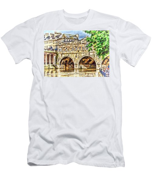 Pulteney Bridge Bath Men's T-Shirt (Athletic Fit)