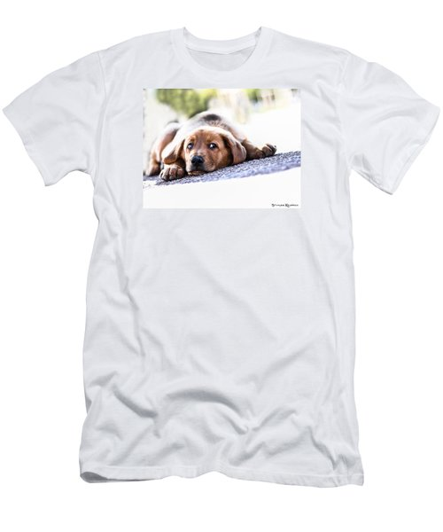 Men's T-Shirt (Athletic Fit) featuring the photograph Puppet Dog by Stwayne Keubrick