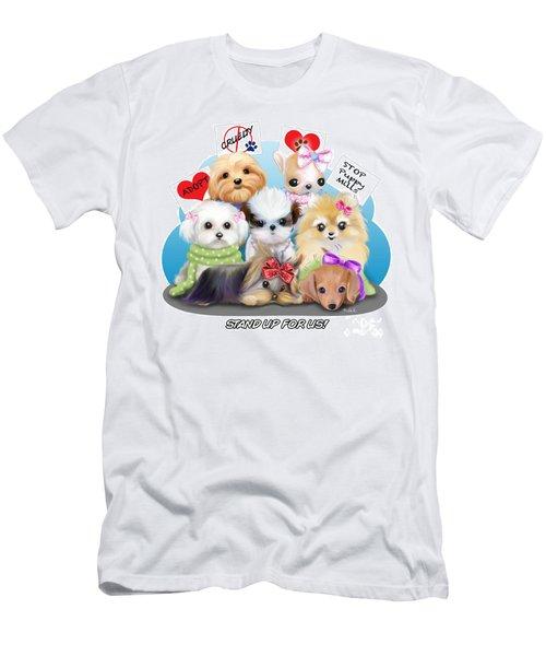 Puppies Manifesto Men's T-Shirt (Slim Fit) by Catia Cho
