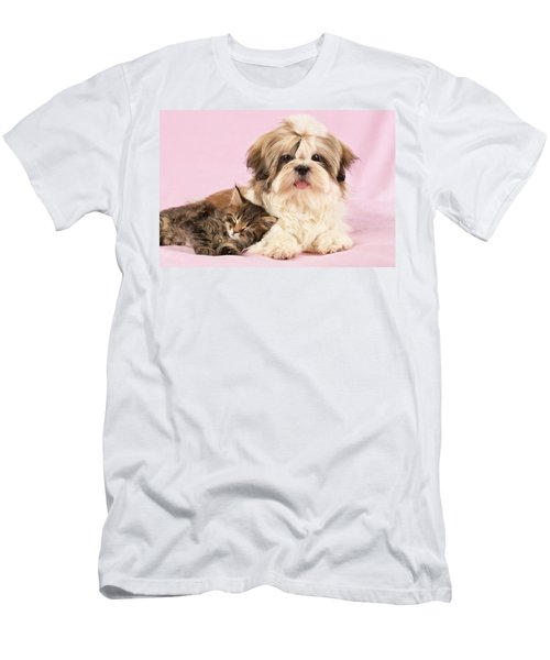 Puppy And Kitten Men's T-Shirt (Athletic Fit)