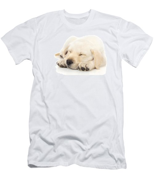 Puppy Sleeping On Paws Men's T-Shirt (Athletic Fit)