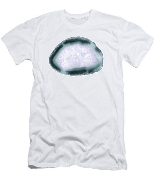 Purple And Teal Agate Stone II Men's T-Shirt (Athletic Fit)