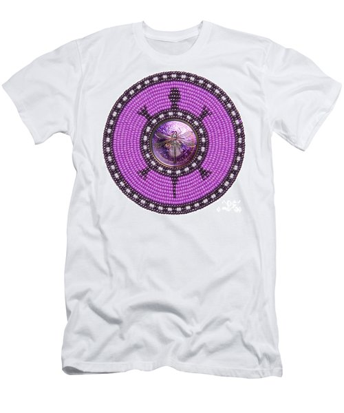 Purple Dragonfly Men's T-Shirt (Athletic Fit)