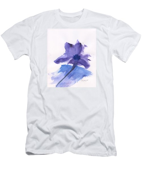 Purple Flower Men's T-Shirt (Slim Fit) by Frank Bright