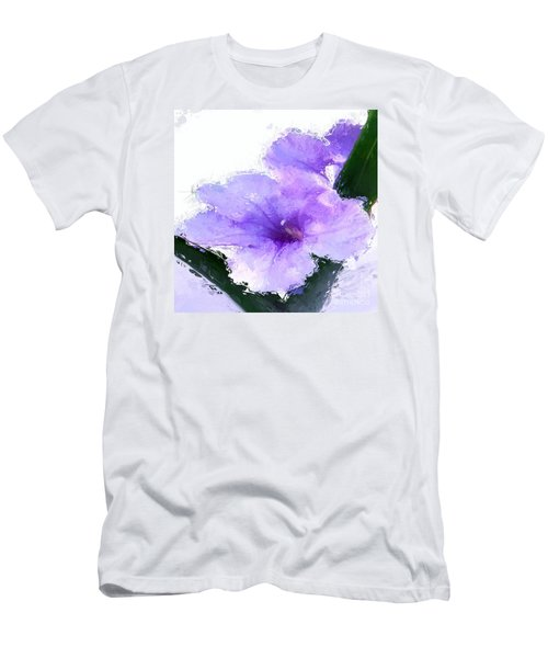 Purple Petunia Men's T-Shirt (Slim Fit) by Anthony Fishburne