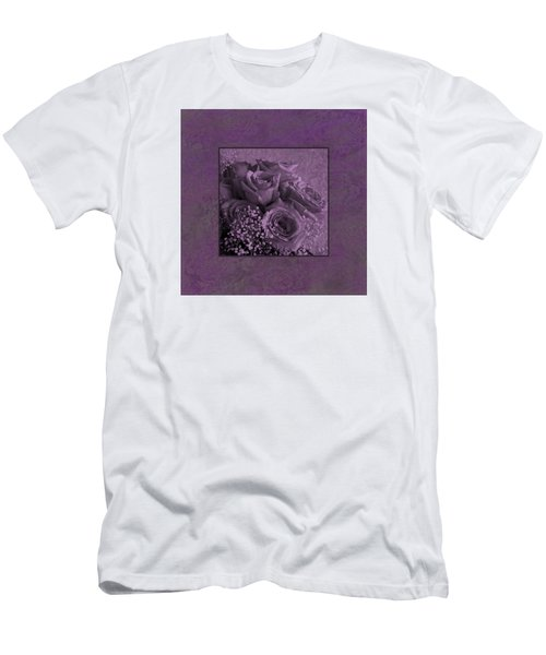 Men's T-Shirt (Slim Fit) featuring the photograph Purple Roses Delight by Sandra Foster