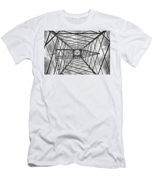 Men's T-Shirt (Athletic Fit) featuring the photograph Pylon by Howard Salmon
