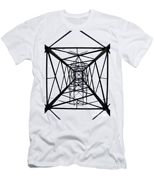 Men's T-Shirt (Slim Fit) featuring the photograph Pylon by Nina Ficur Feenan